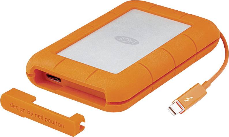 "Externí HDD 6,35 cm (2,5"") recertifikace LaCie Rugged Thunderbolt, 2 TB, USB 3.0, Thunderbolt, stříbrná, oranžová"