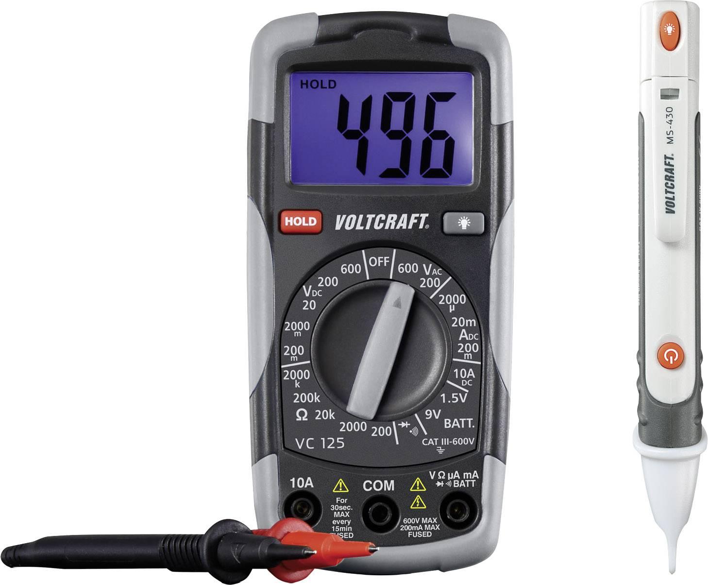 Digitálny multimeter a skúšačka Voltcraft DT-TEST-KIT 150