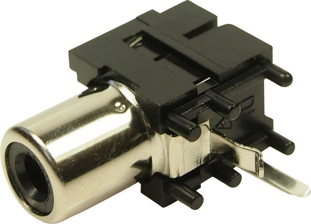 Cinch konektor zásuvka, vstavateľná horizontálna Cliff FC6837, 1 ks
