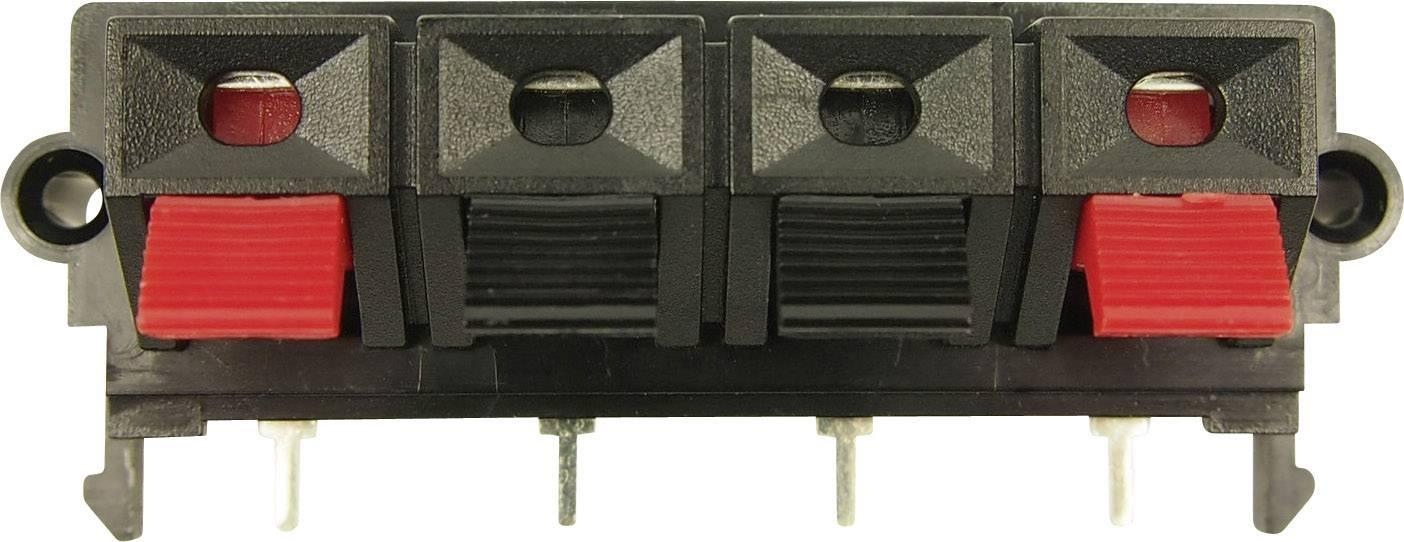 Konektor reproduktoru zásuvka, vstavateľná vertikálna Cliff FC681508, počet pinov: 4, 1 ks