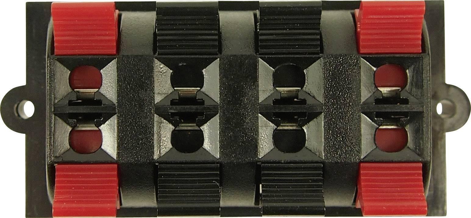 Svorka reproduktoru 4pól. Cliff FE6930, zásuvka vestavná vertikální