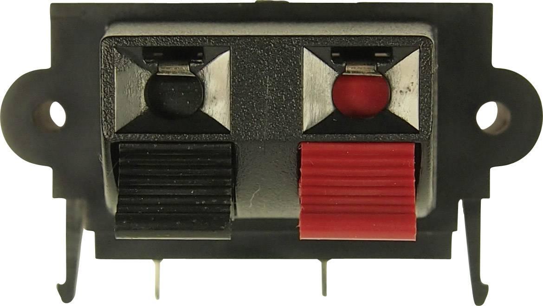 Konektor reproduktoru zásuvka, vstavateľná vertikálna Cliff FE6935, pinov 2, 1 ks