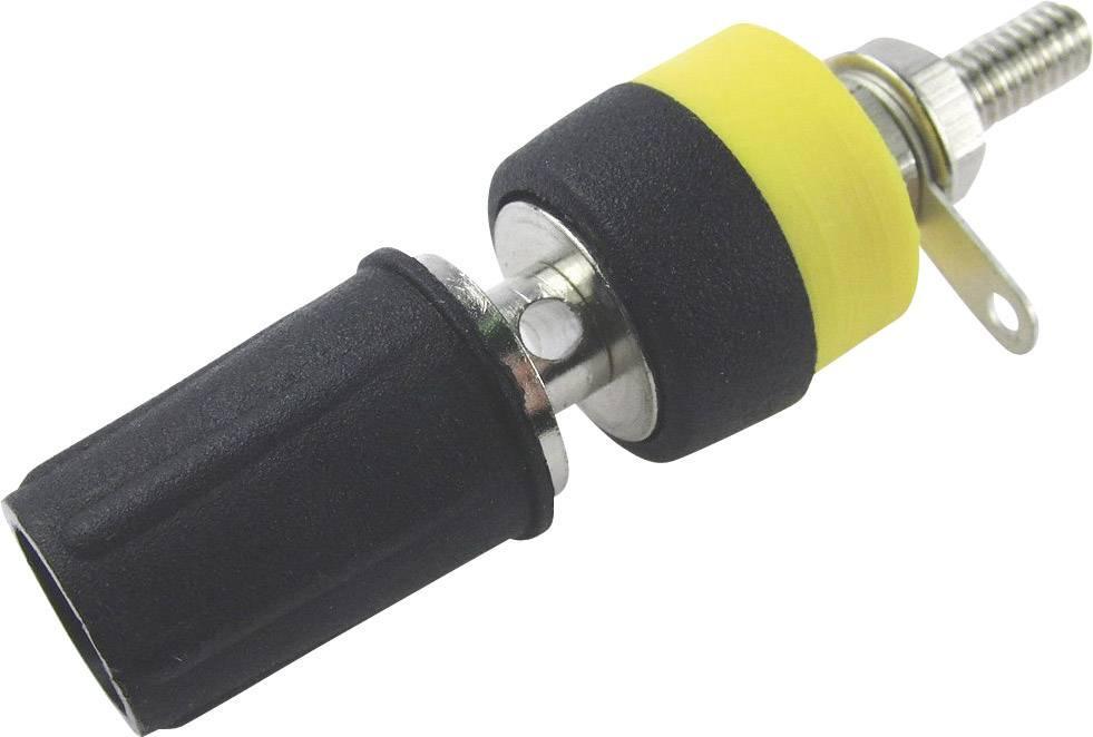 Laboratorní konektor Cliff CL1550D, zásuvka vestavná vertikální, černá