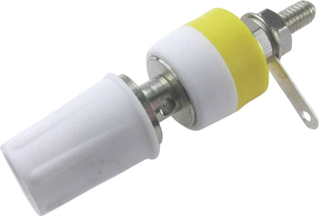 Laboratorní konektor Cliff CL1554D, zásuvka vestavná vertikální, bílá