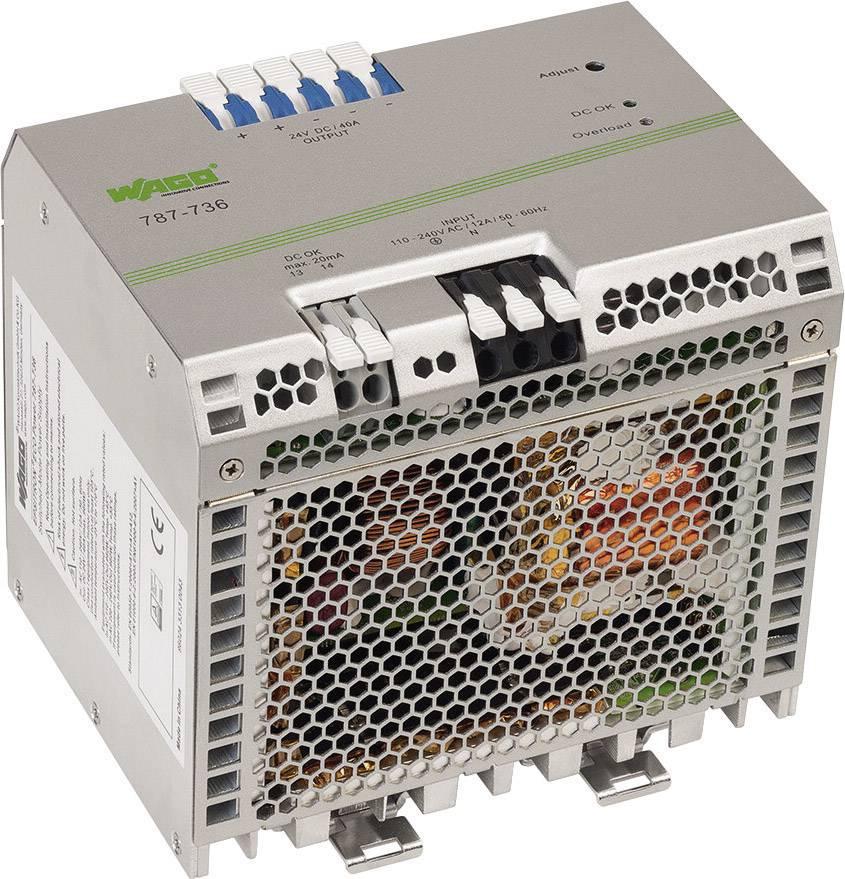 Sieťový zdroj na DIN lištu WAGO EPSITRON 24 V / DC 40 A 2 x