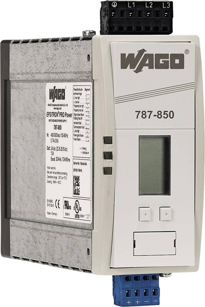 Síťový zdroj na DIN lištu WAGO EPSITRON, 4 x, 24 V/DC, 10 A