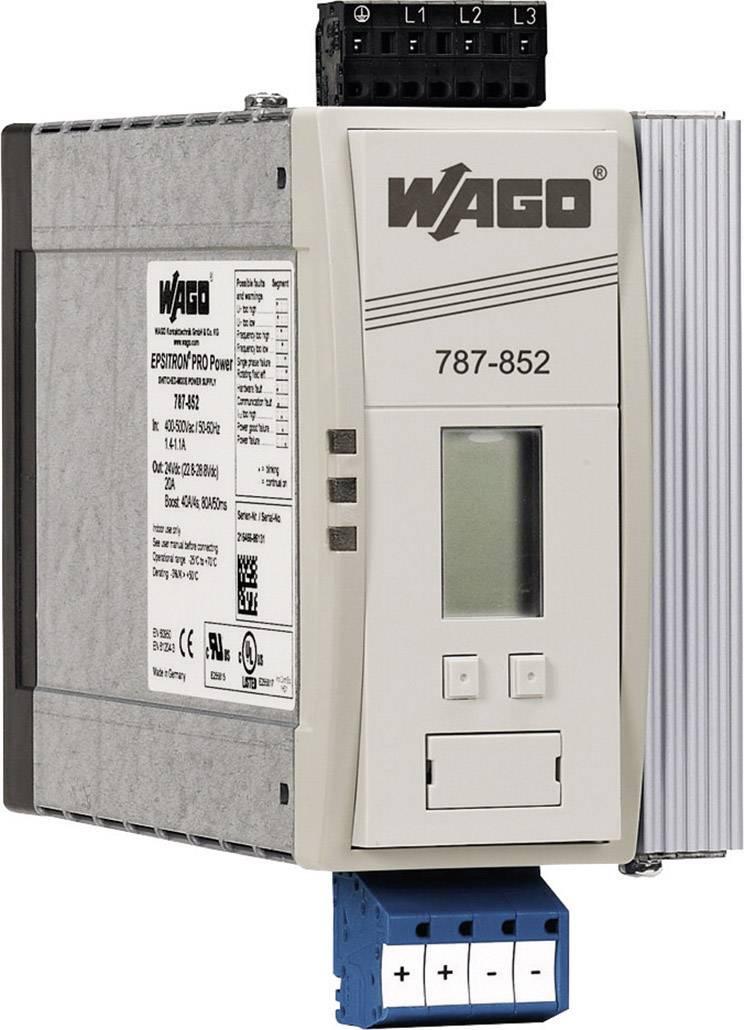 Síťový zdroj na DIN lištu WAGO EPSITRON, 4 x, 24 V/DC, 20 A