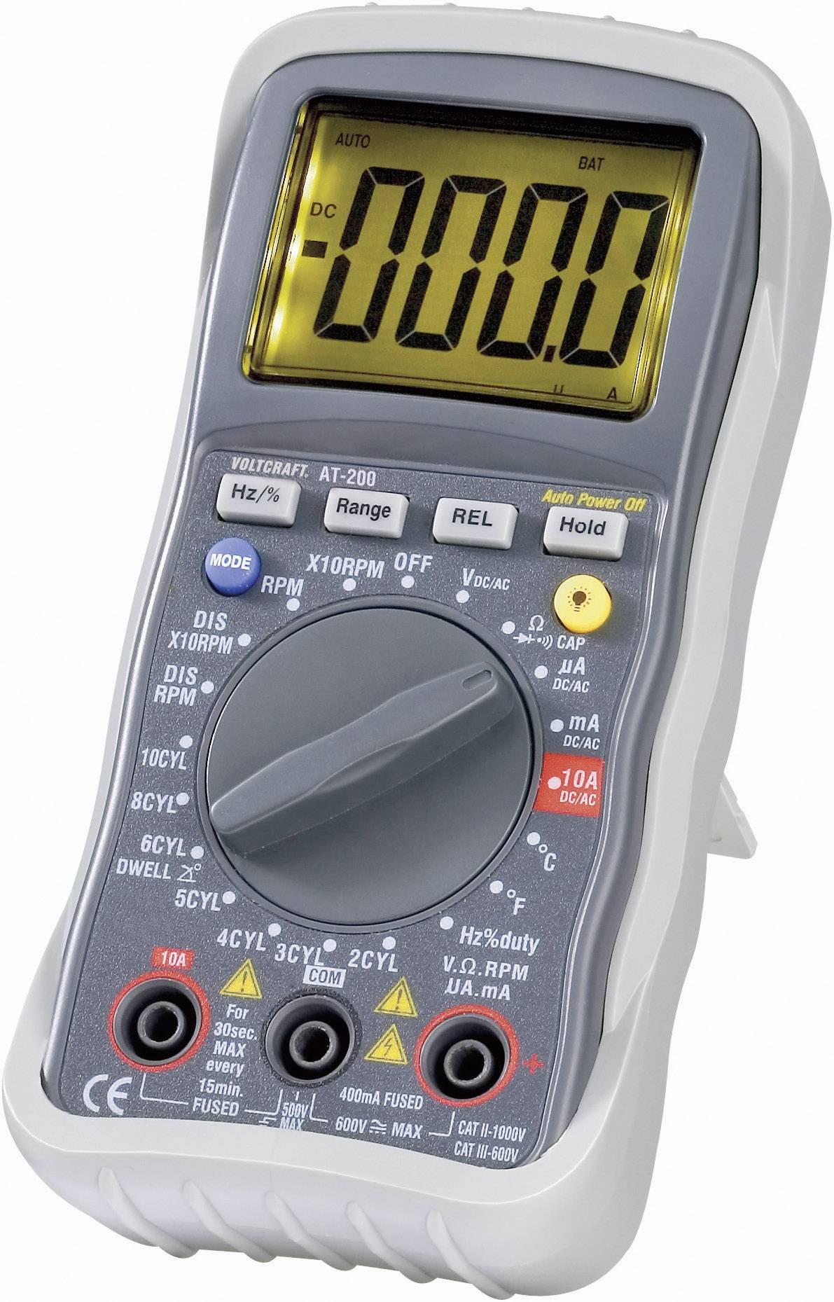 Digitálne/y ručný multimeter VOLTCRAFT AT-200 AT-200, testovanie v automobiloch