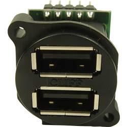 USB 2.0 zásuvka, vstavateľná vertikálna Cliff CP30090 CP30090, čierna, 1 ks