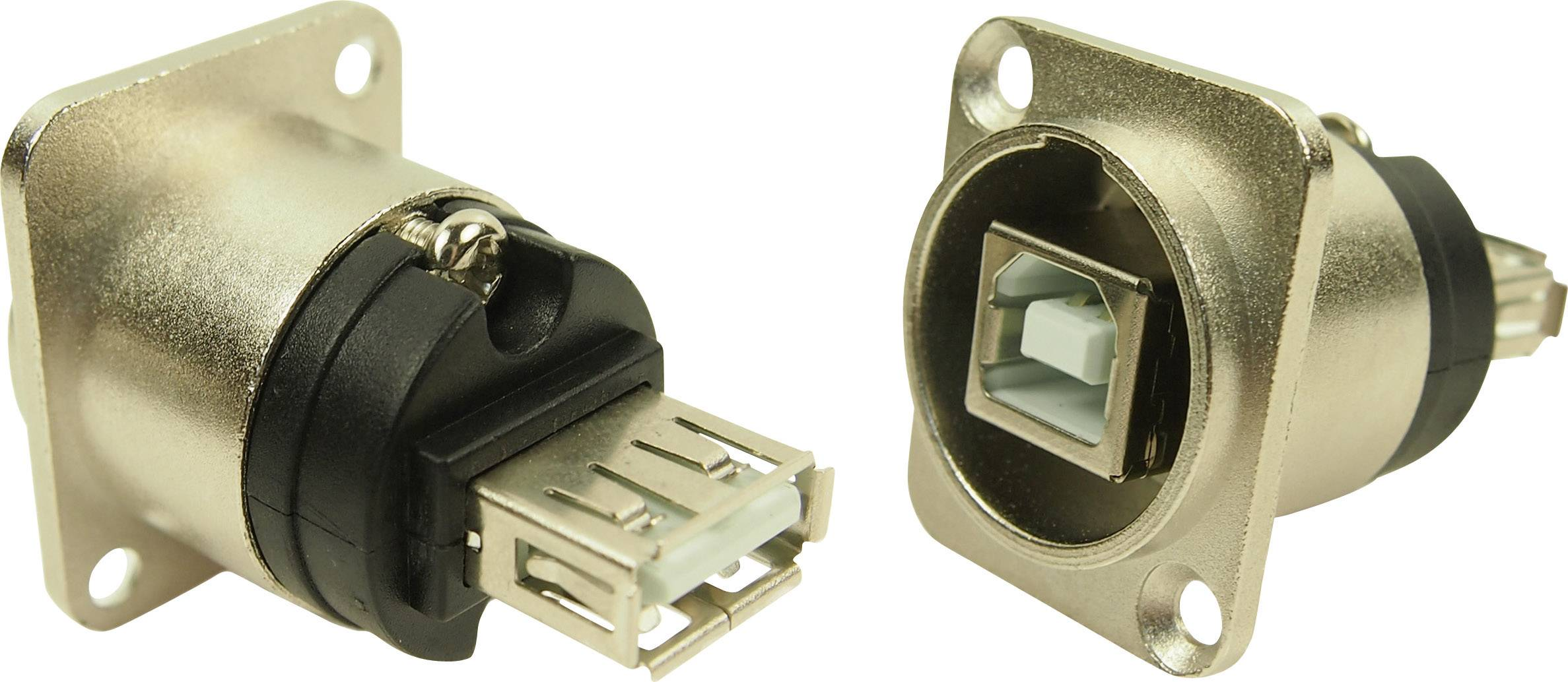 USB 2.0 adaptér, vstavateľný Cliff N/A CP30111, strieborná, 1 ks