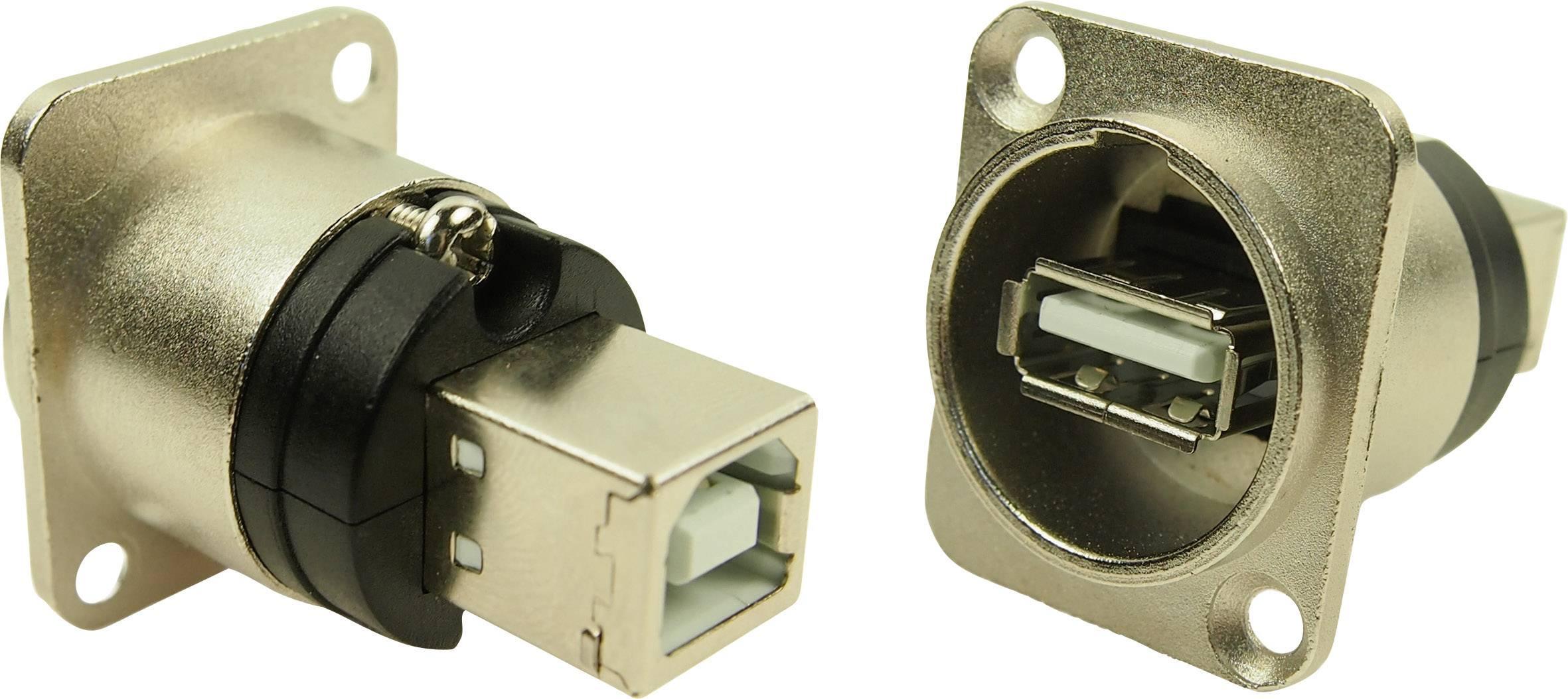 USB 2.0 adaptér, vstavateľný Cliff N/A CP30110, strieborná, 1 ks