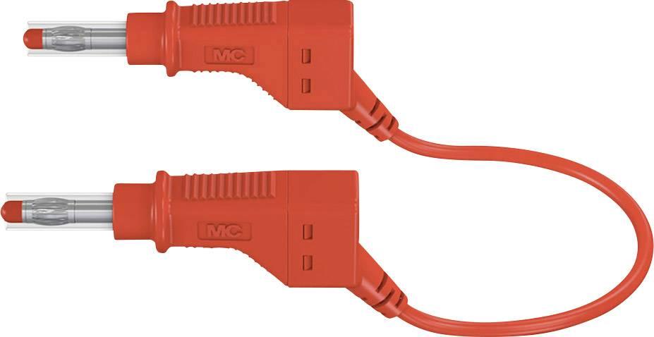 Merací kábel Multicontact xZG410, 600 V, dĺžka 1 m, červený