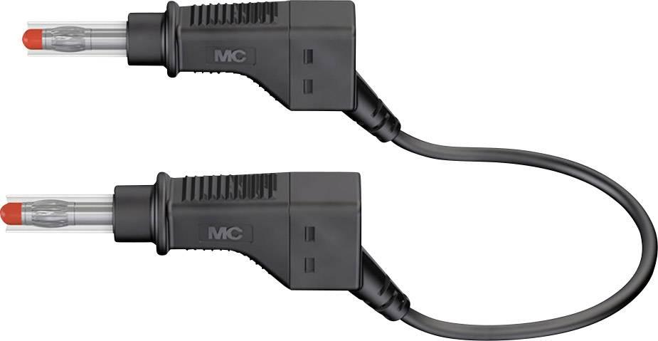 Merací kábel Multicontact xZG410, 600 V, dĺžka 1 m, čierny