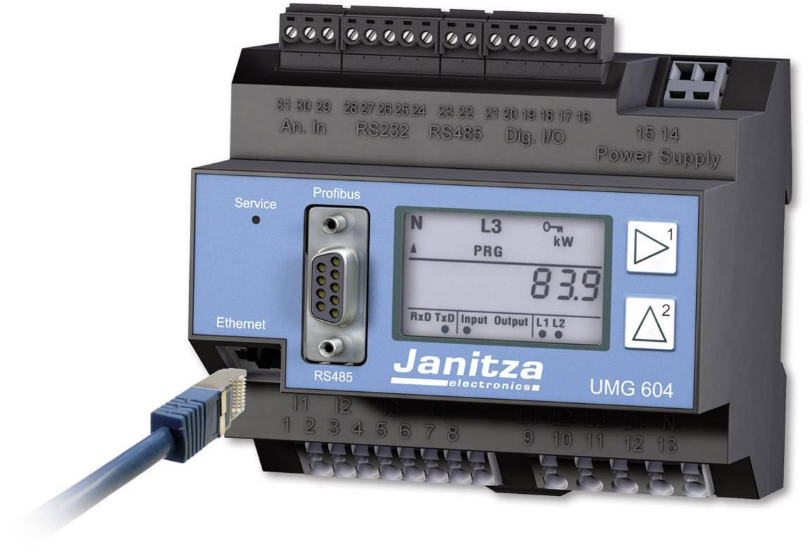 Síťový analyzátor Janitza UMG 604E 24V 52.16.022, CAT III 300 VKalibrováno dle ISO