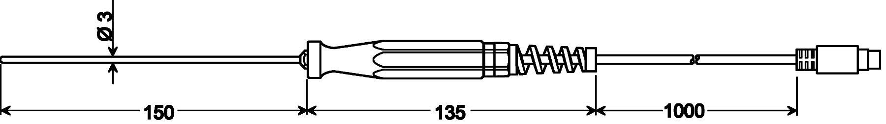 Teplotné čidlo Greisinger GTF 401 1/3DIN, Pt100, -50 až +400 °C