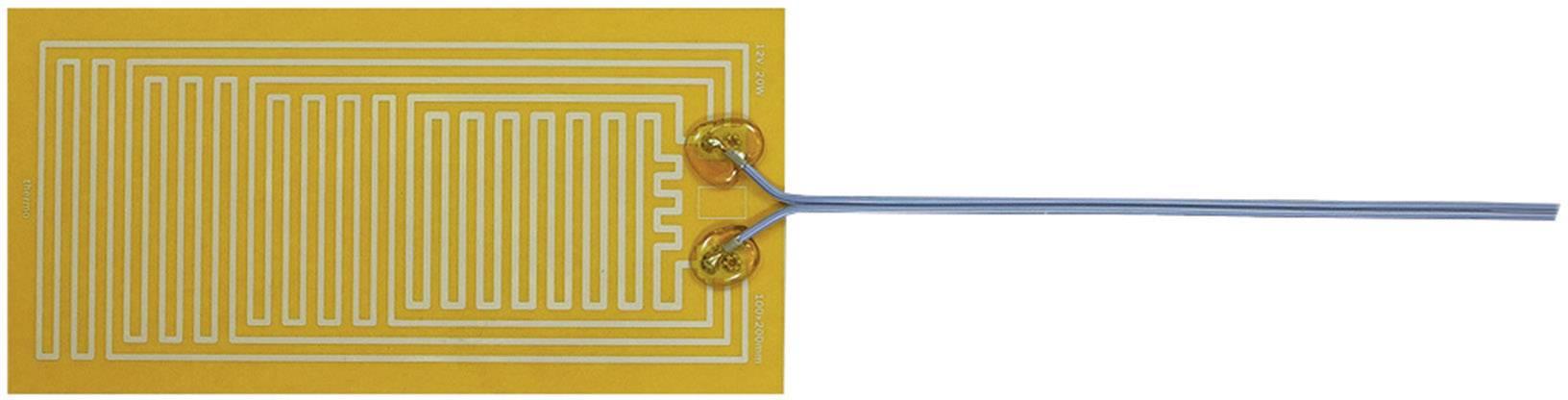 Tepelná fólie samolepicí Thermo 12 V/DC, 12 V/AC, 20 W, krytí IPX4, (d x š) 200 mm x 100 mm