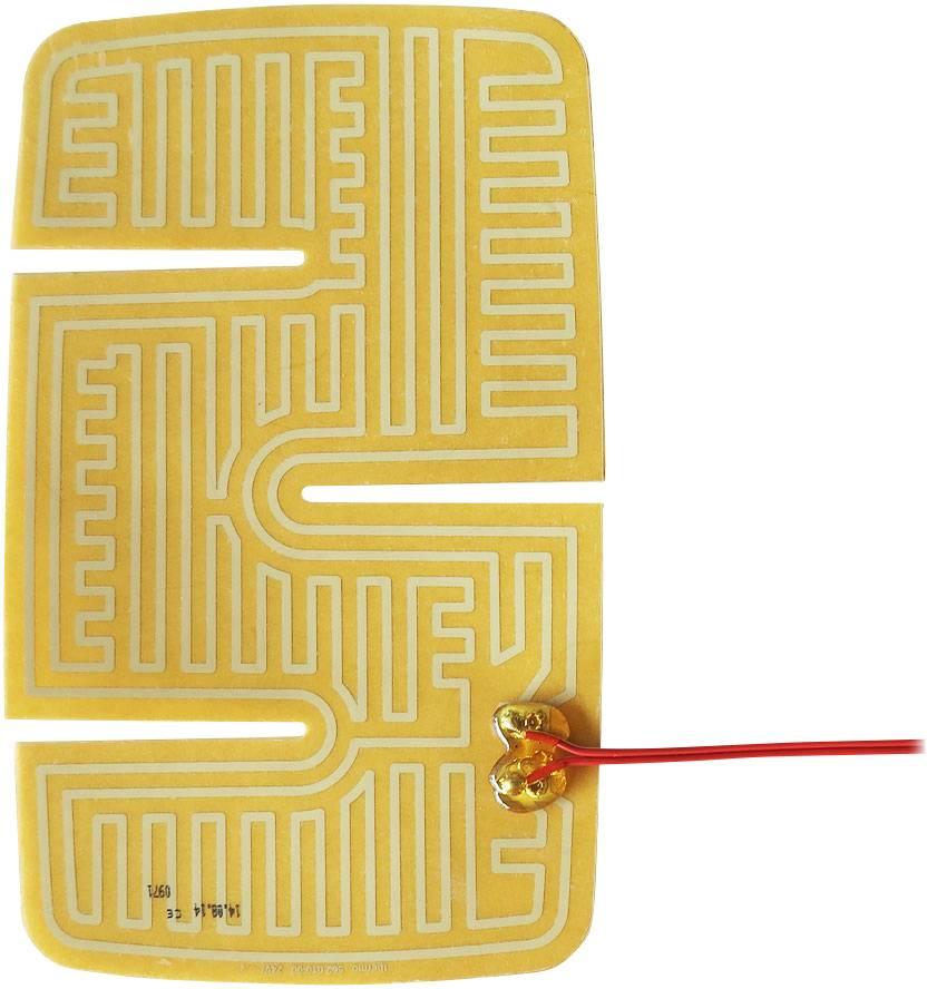 Plošné vytápění pro vnější zrcátka aut Thermo, samolepicí, 24 V/DC, 24 V/AC, 20 W, IPX4, (d x š) 235 mm x 144.5 mm