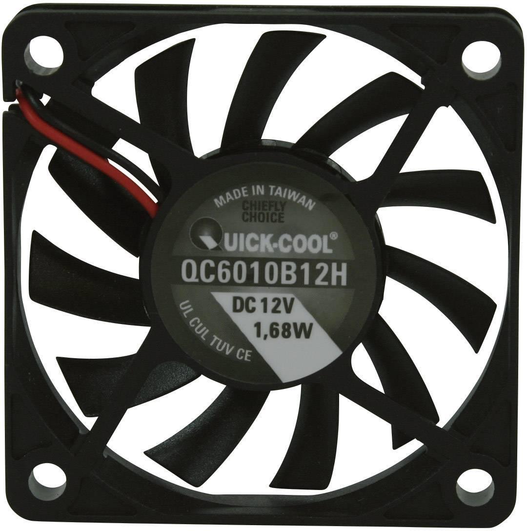 Axiálny ventilátor QuickCool QC6010B12H QC6010B12H, 12 V/DC, 27.9 dB, (d x š x v) 60 x 60 x 10 mm