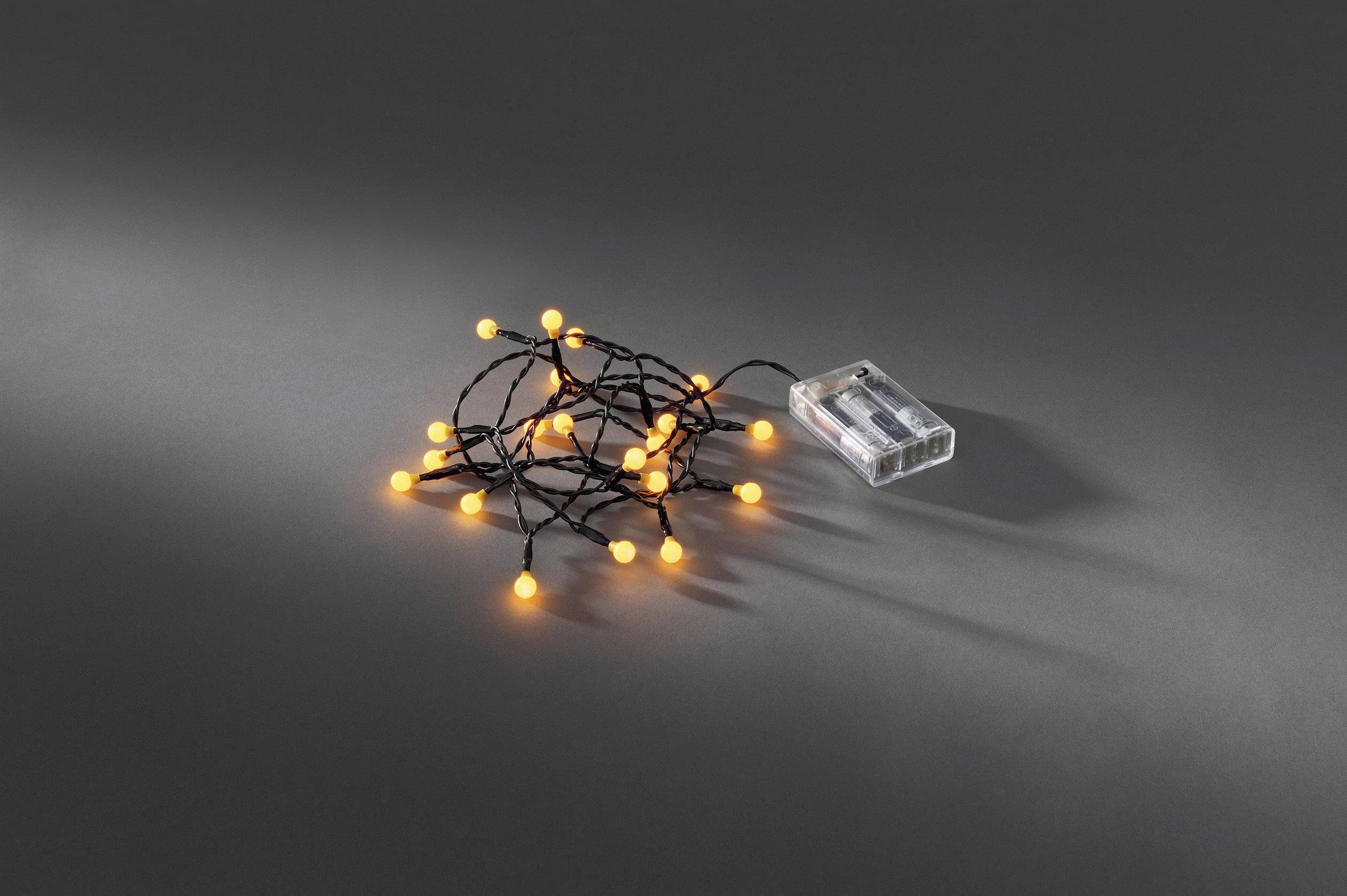 Vnitřní světelný řetěz Konstsmide 1491-007, 20 LED, 1,82 m, na baterie, žlutá