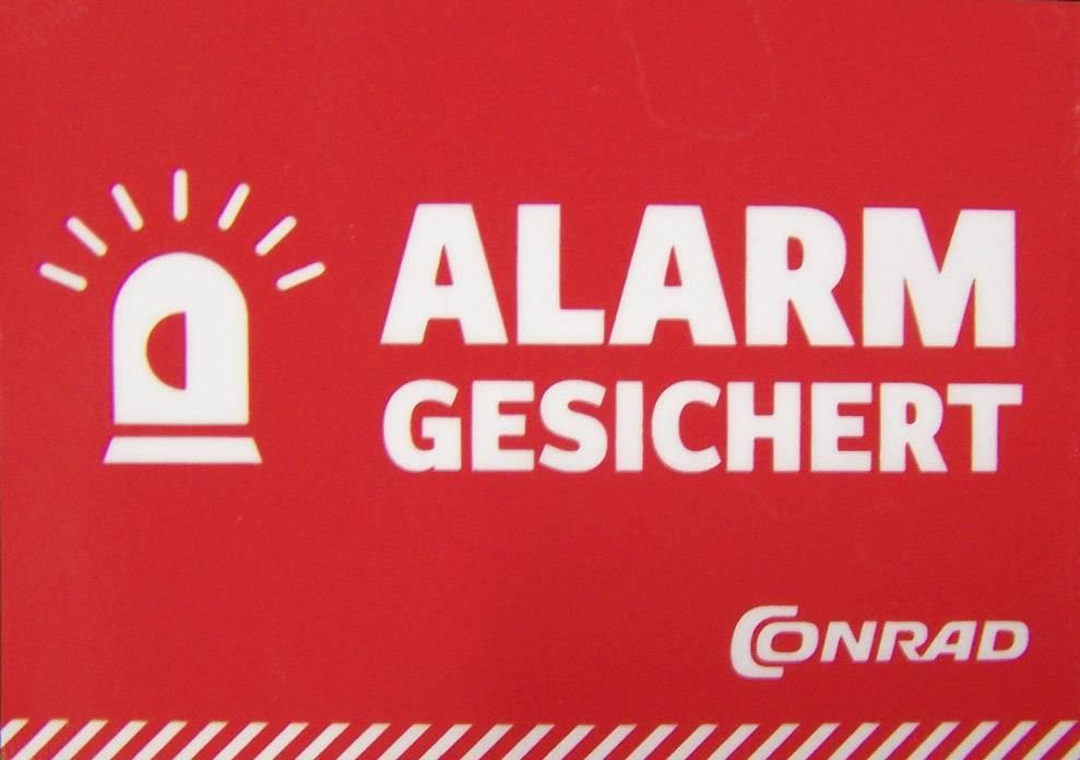 Nálepka Zabezpečení alarmem, německy