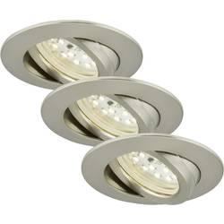 LED vestavné svítidlo Briloner 7209-032, 15 W, teplá bílá, sada 3 ks, niklová (matná)