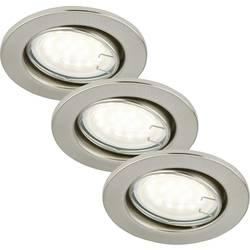 Vestavné svítidlo - LED Briloner 7208-032 GU10, 9 W, sada 3 ks, niklová (matná)