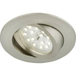 LED vestavné svítidlo Briloner 7209-012, 5 W, teplá bílá, niklová (matná)