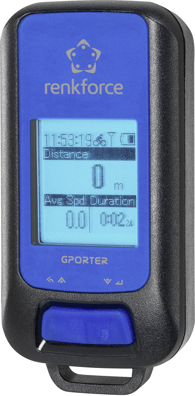 GPS logger Renkforce GP-102 G-Porter modrá, čierna