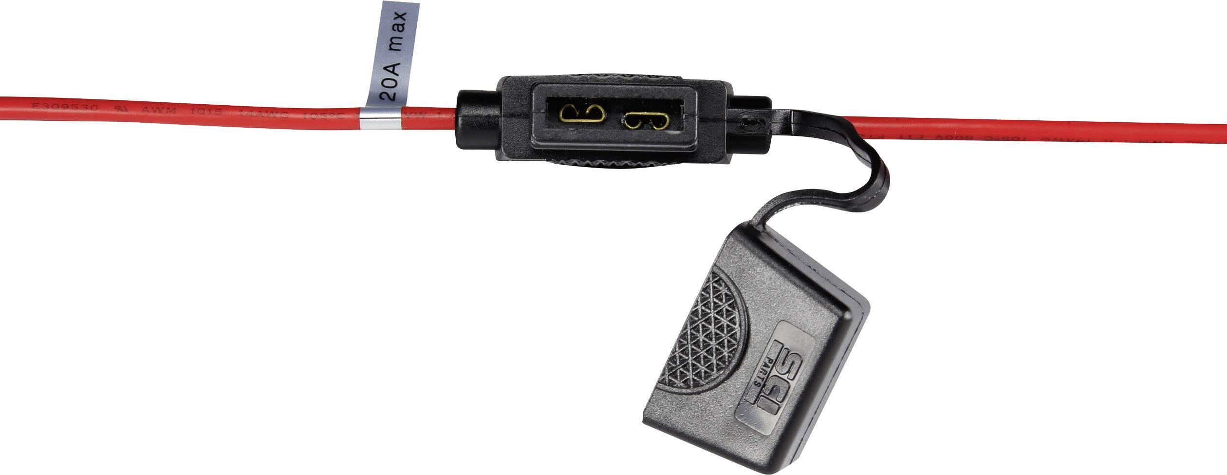 Držák na ploché pojistky Průřez kabelu 2 mm² Pojistka=Standardní ploché pojistky