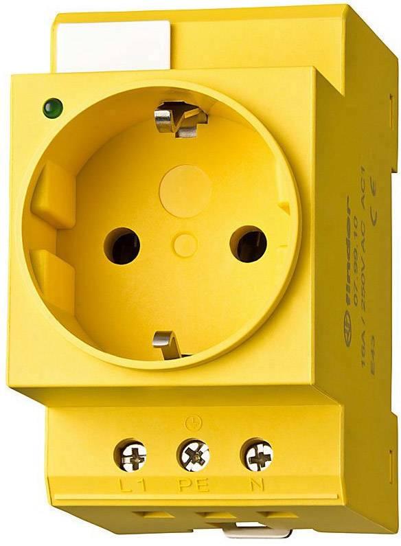 Zásuvka Schuko pro montáž na DIN lištu Finder 07.98.00