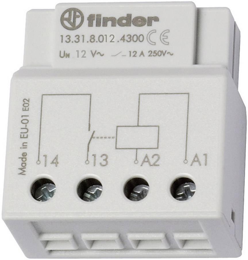 Spínací relé Finder 13.31.8.012.4300, 1 spínací kontakt, 12 V/AC, 12 A
