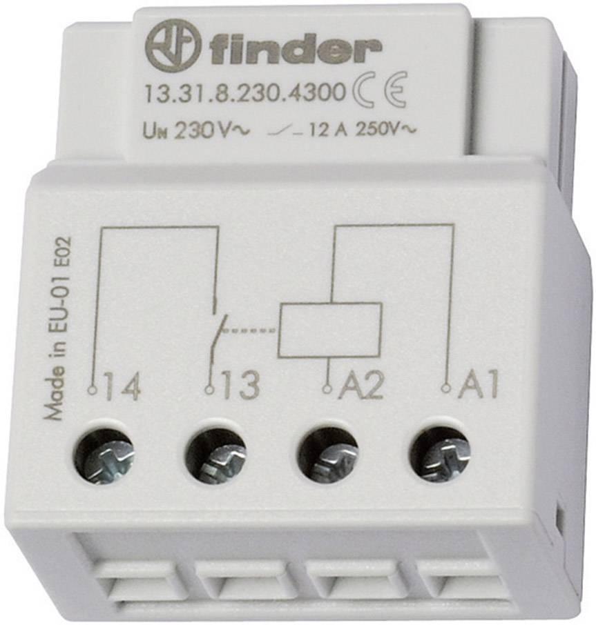 Spínací relé Finder 13.31.8.230.4300, 1 spínací kontakt, 230 V/AC, 12 A