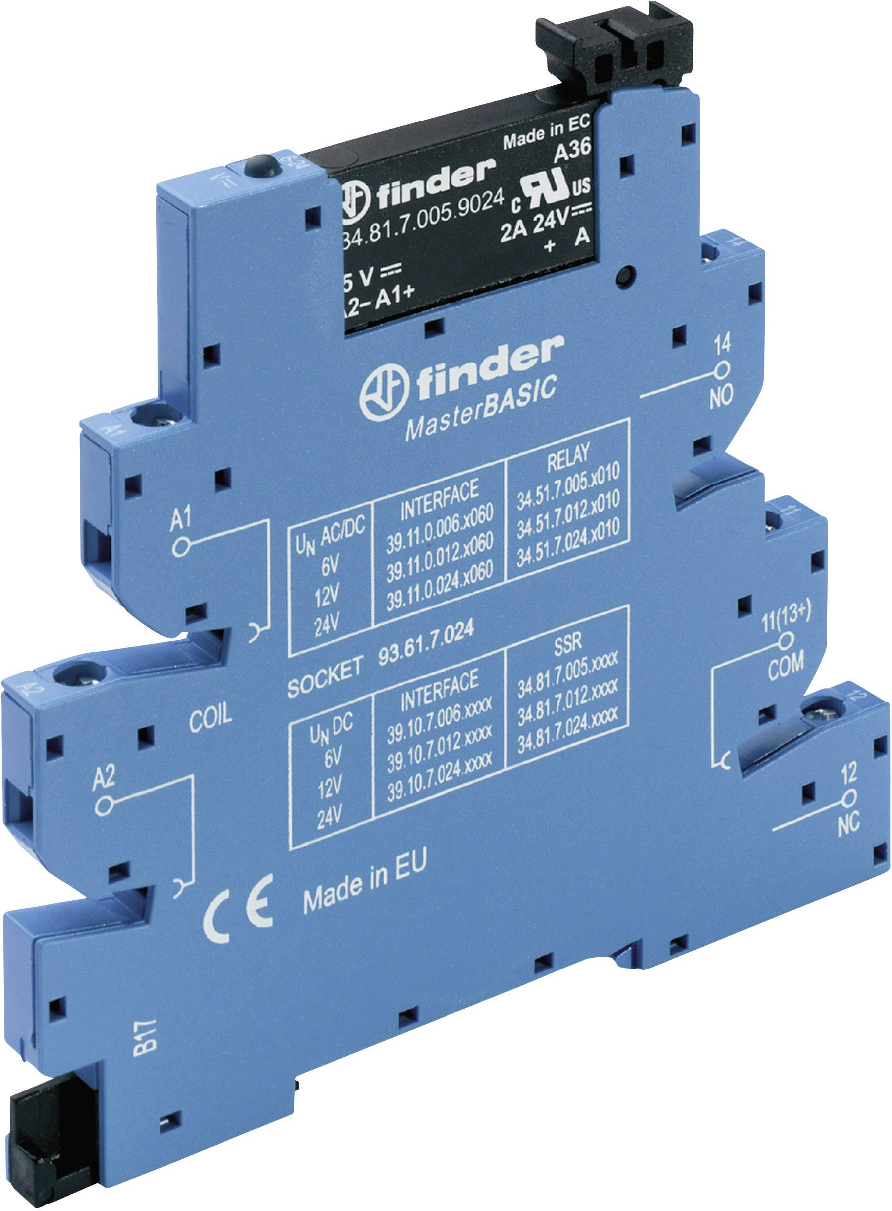 Polovodičové relé Finder 39.10.7.024.8240 39.10.7.024.8240, 2 A, 1 ks