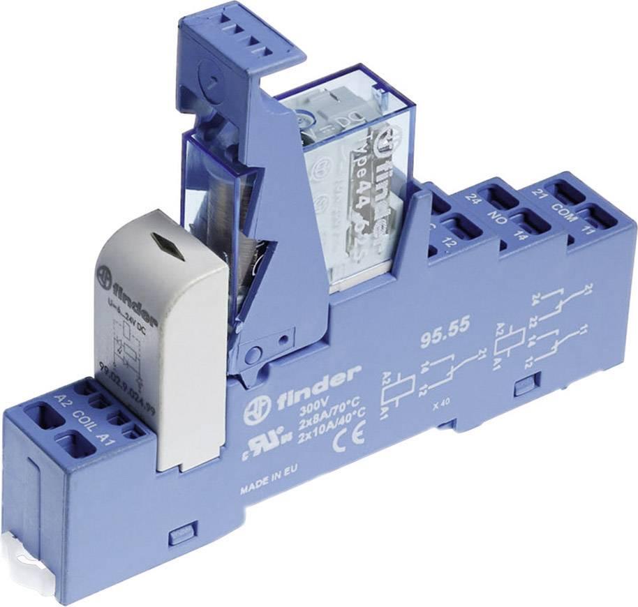 Vazební relé pro lištu DIN Finder 48.81.7.024.0050, 24 V/DC, 16 A, 1 přepínací kontakt