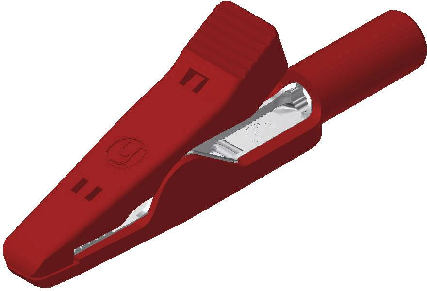 Měřicí krokosvorka Hirschmann MA, 4 A, 60 V/DC, červená