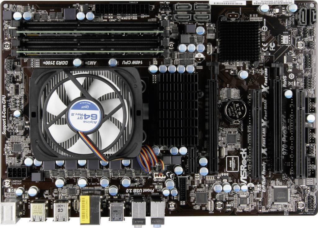 Základní deska s procesorem Renkforce AMD FX-6300, DDR3 8 GB, 6x 3,5 GHz, ATX
