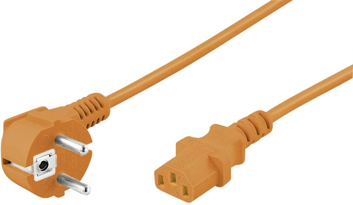 Síťový kabel s IEC zásuvkou Goobay 95288, 2 m, oranžová