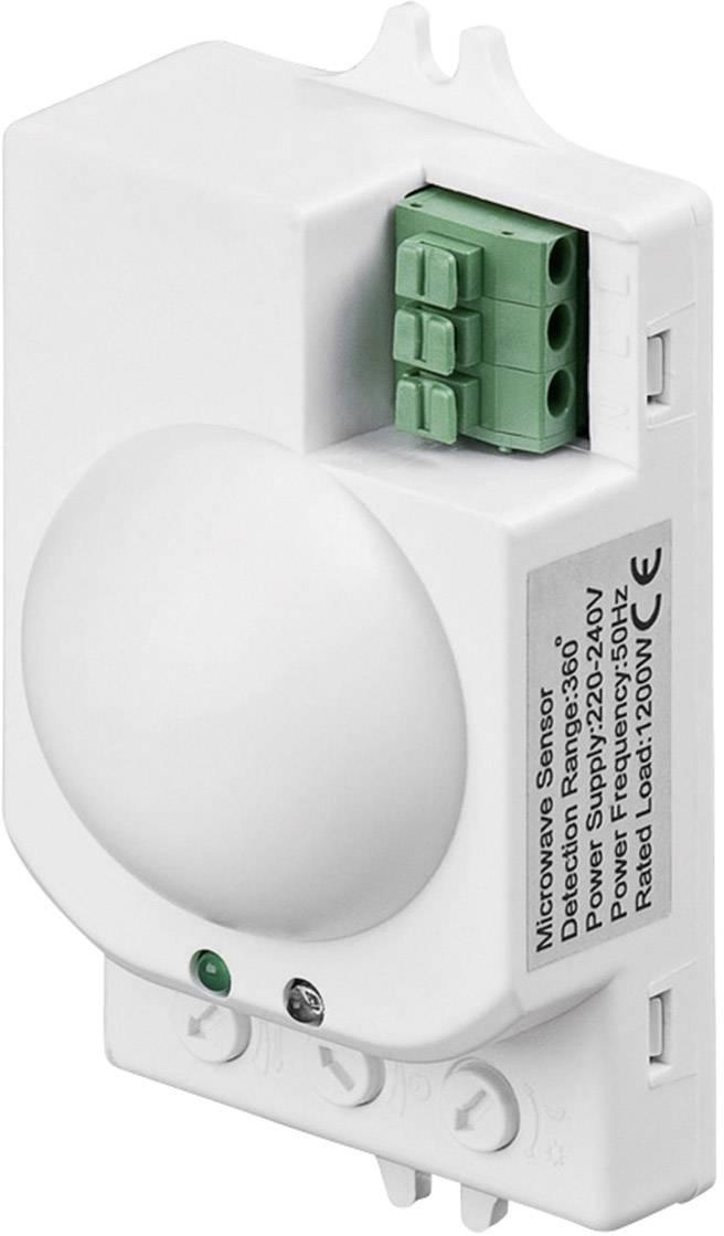 Vysokofrekvenčný senzor pohybu Goobay 96011, 360 °, relé, biela, IP20