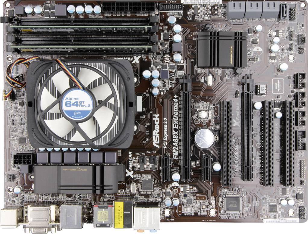 Základná doska s procesorom Renkforce AMD A10-7850K, DDR3 8 GB, 4x 3,7 - 4,4 GHz, ATX
