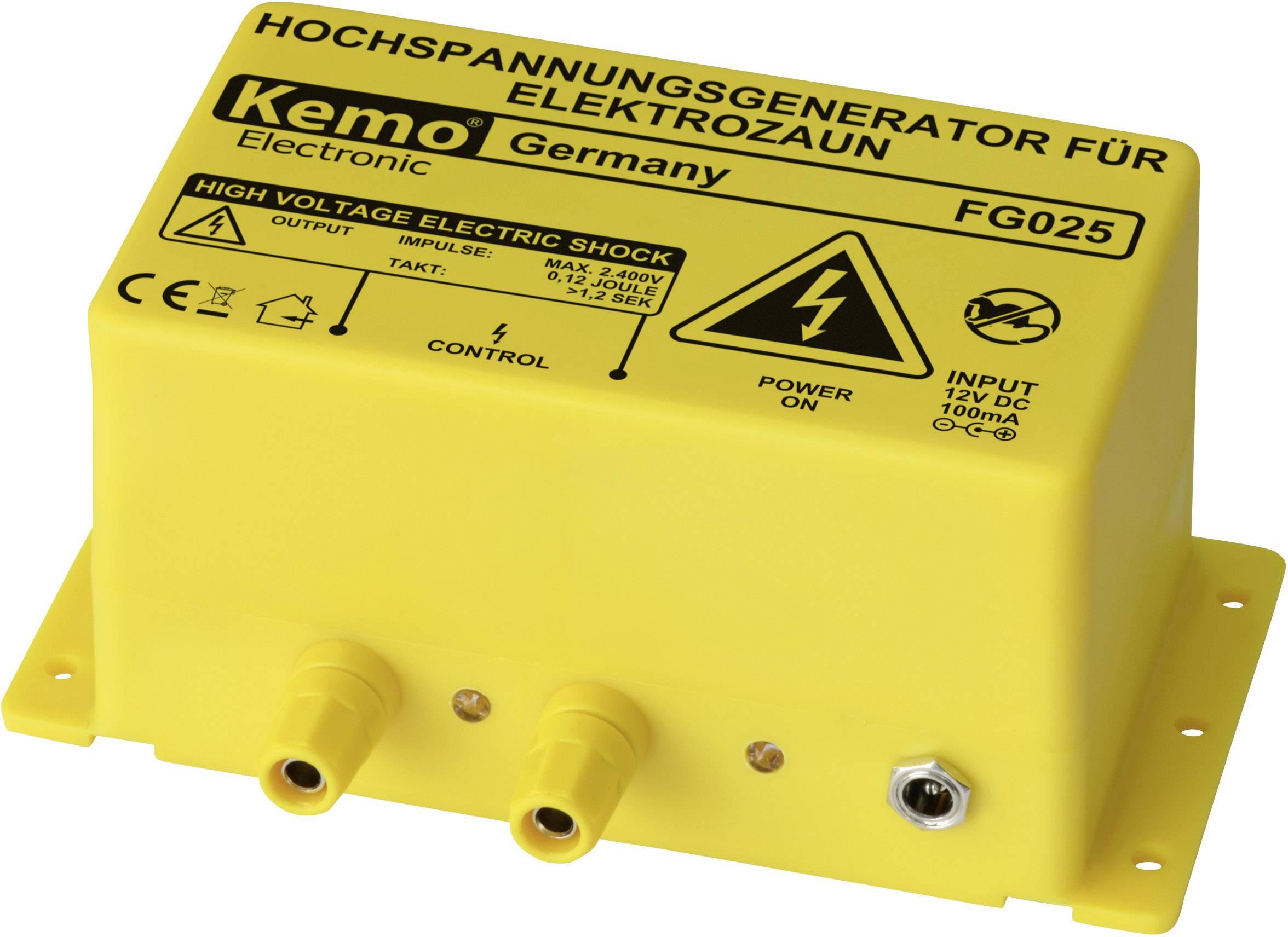 Vysokonapäťový generátor pre elektrické ohradníky Kemo, FG025