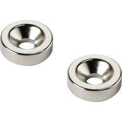 Permanentný magnet kruh TRU COMPONENTS D15T3-M4, (Ø x v) 15 mm x 3 mm, N35