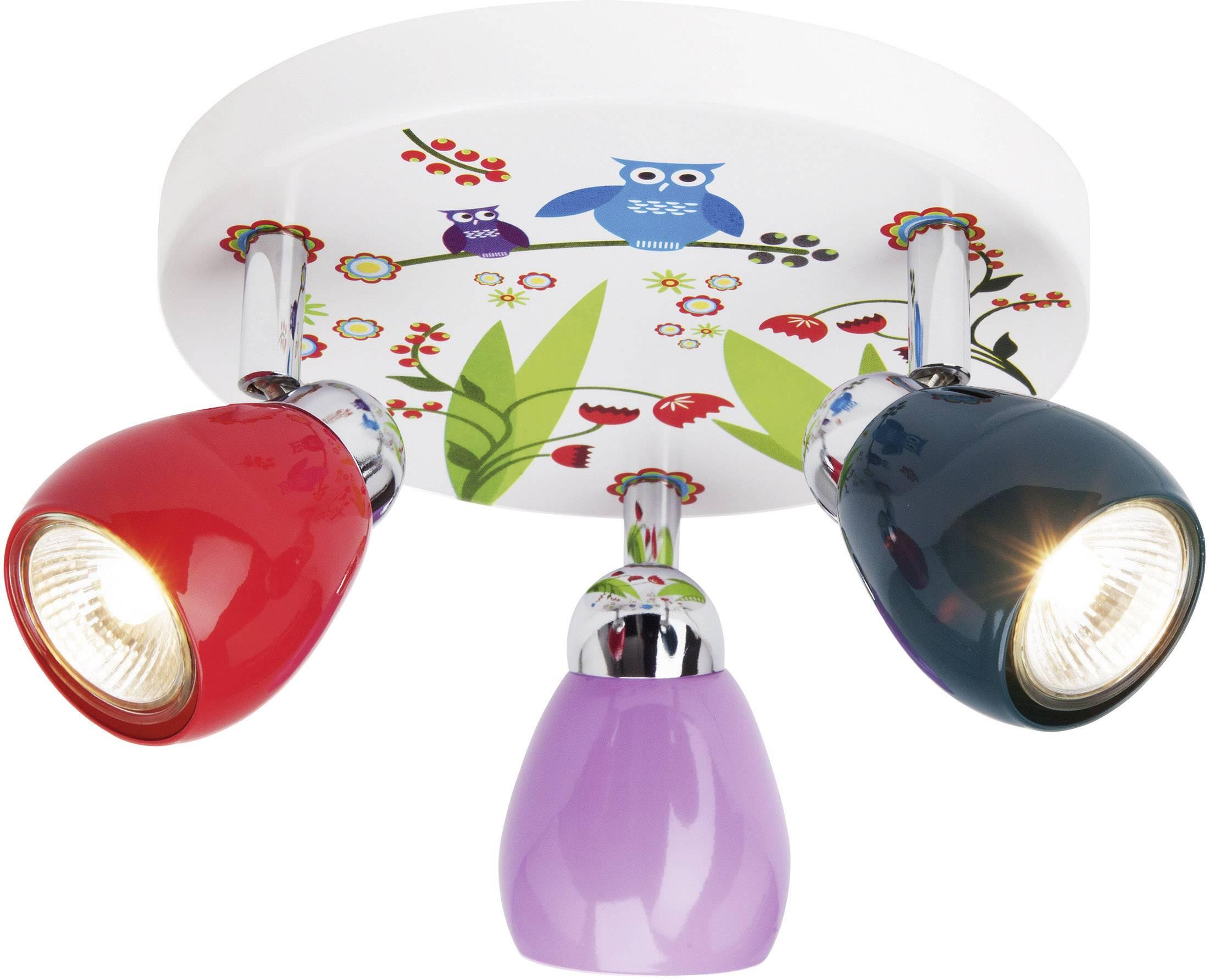 Stropní svítidlo sovy Brilliant Ptice G56034/72, GU10, 150 W, halogenová žárovka, barevná