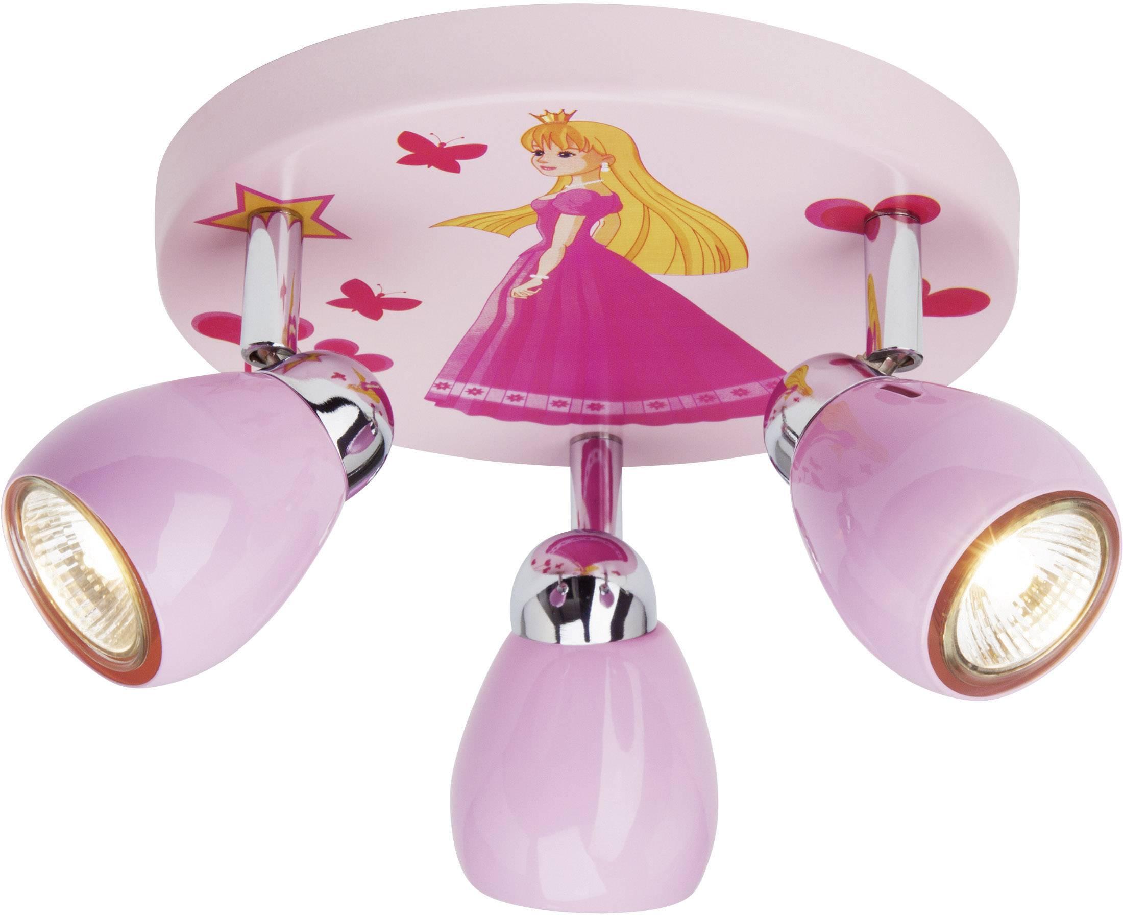 Stropní svítidlo Brilliant Princeza G55934/17, GU10, 50 W, halogenová žárovka, růžová