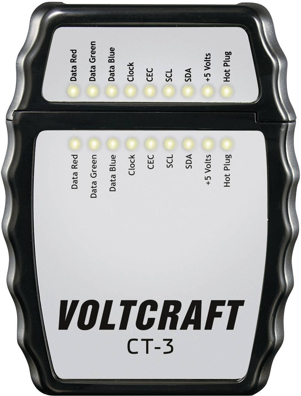 Tester pre HDMI káble typu A Voltcraft CT-3