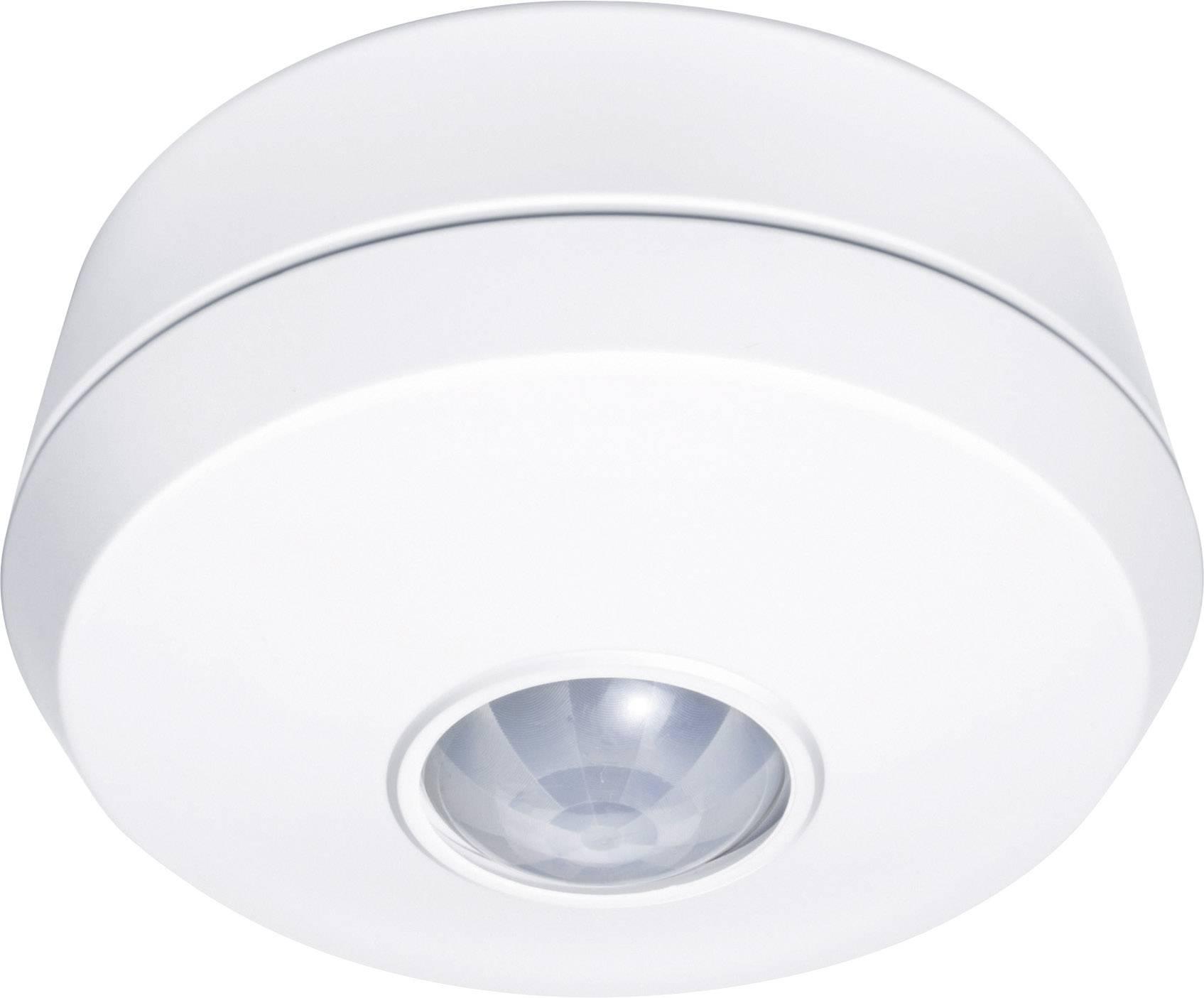 Detektor pohybu PIR GEV 018709 na omítku či strop, vestavný, 360°, relé, bílá, IP20