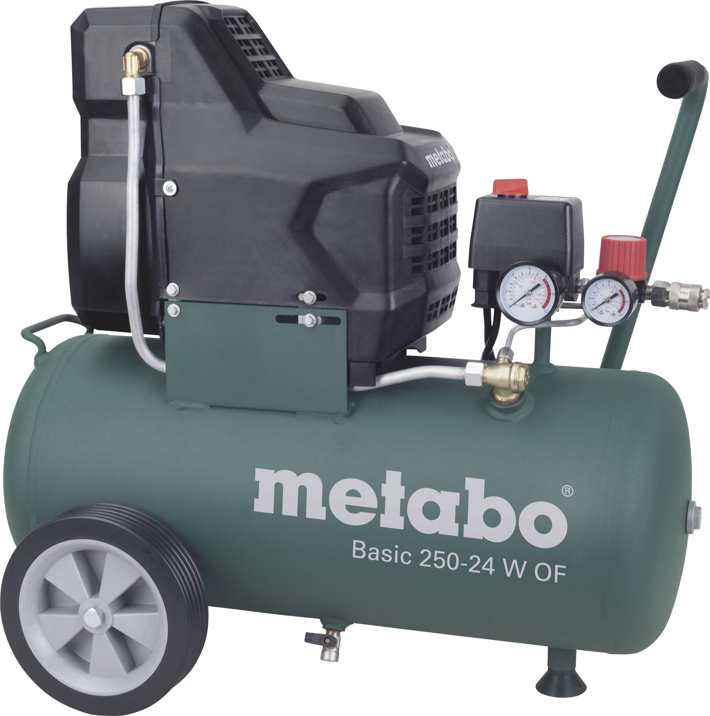 Pístový kompresor Metabo Basic 250-24 W OF 601532000, objem tlak. nádoby 24 l