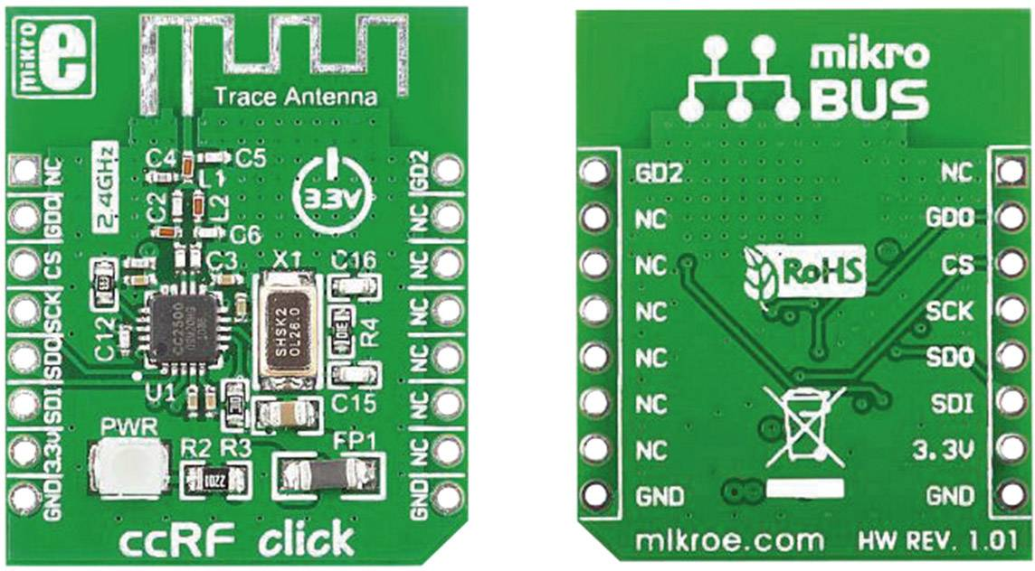 Rozšiřující deska MikroElektronika MIKROE-1435