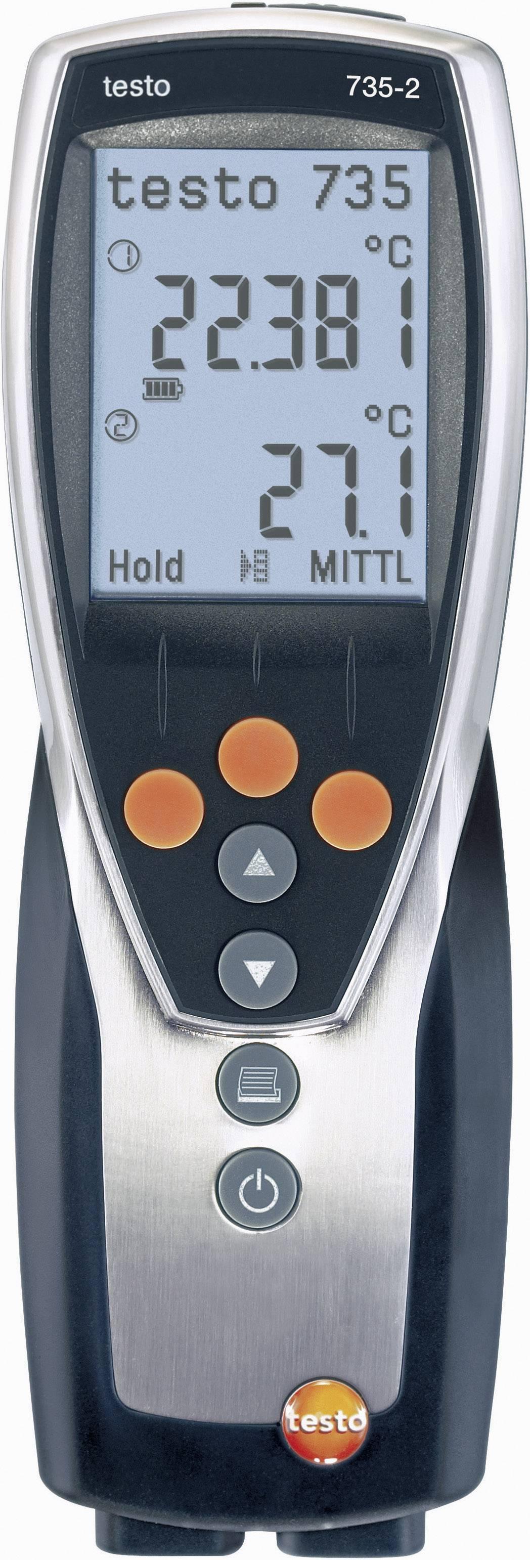 Teplomer testo 735-2, Pt100, -200 až +800 °C, typ K, -200 až +1370 °C