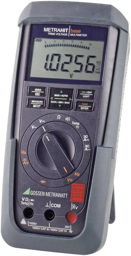 Digitálne/y ručný multimeter Gossen Metrawatt METRAHIT BASE M241A, kalibrácia podľa DAkkS