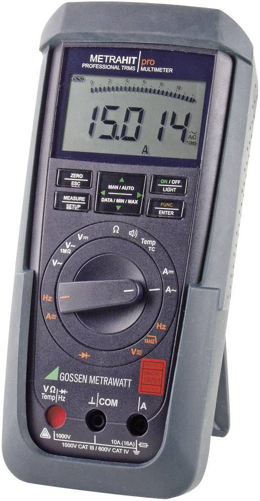 Digitálne/y ručný multimeter Gossen Metrawatt METRAHIT PRO M242A, kalibrácia podľa DAkkS
